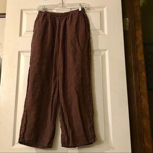 FLAX Vintage Wide Leg Cropped Pants